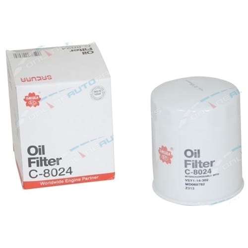 Diesel Oil Filter Sakura C8024 Mitsubishi 4D56 2.5 Engine Alternate Cross References Z313