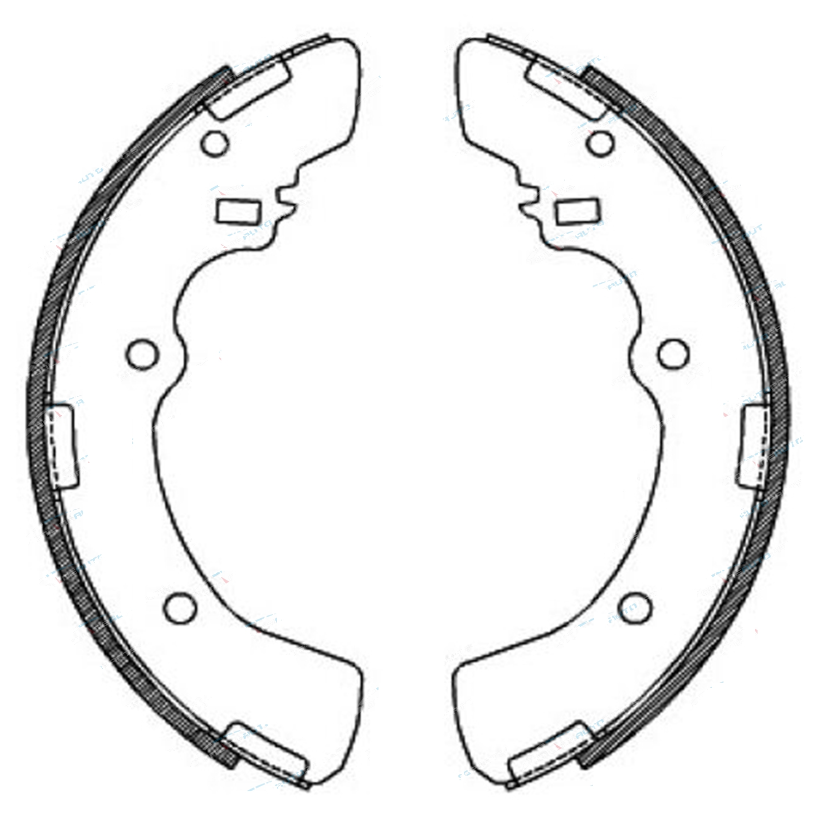 Brake Shoes L300 Starwagon Delica 4x4 SF SG SH SJ Mitsubishi Van 86-95 Drum Set