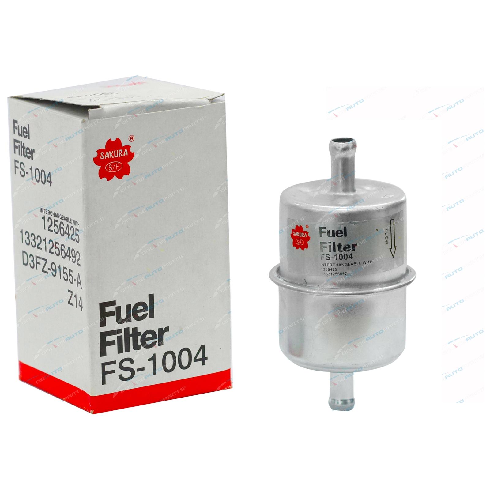 Sakura Metal Inline Petrol Fuel Filter Mazda 323 Fa 13l 4cyl Tc Location 5 19771980