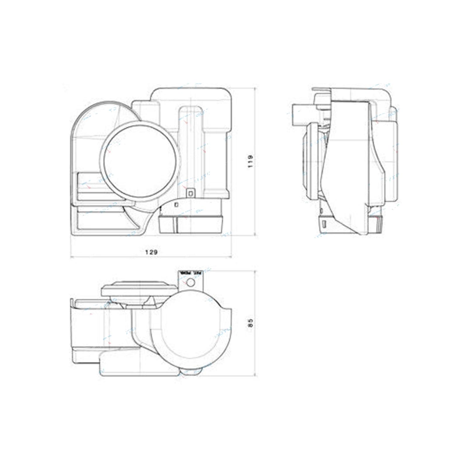 stebel nautilus chrome compact car bike air horn 139db