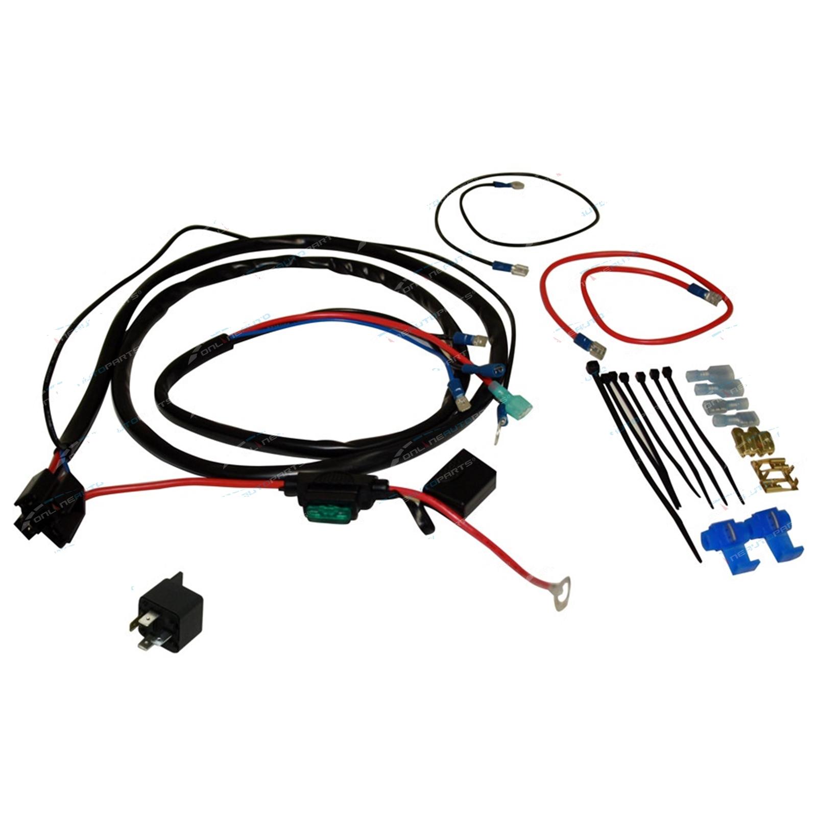 Basic Horn Or Lamp Wiring Kit Air Electric Car Bike Truck Incl Ne