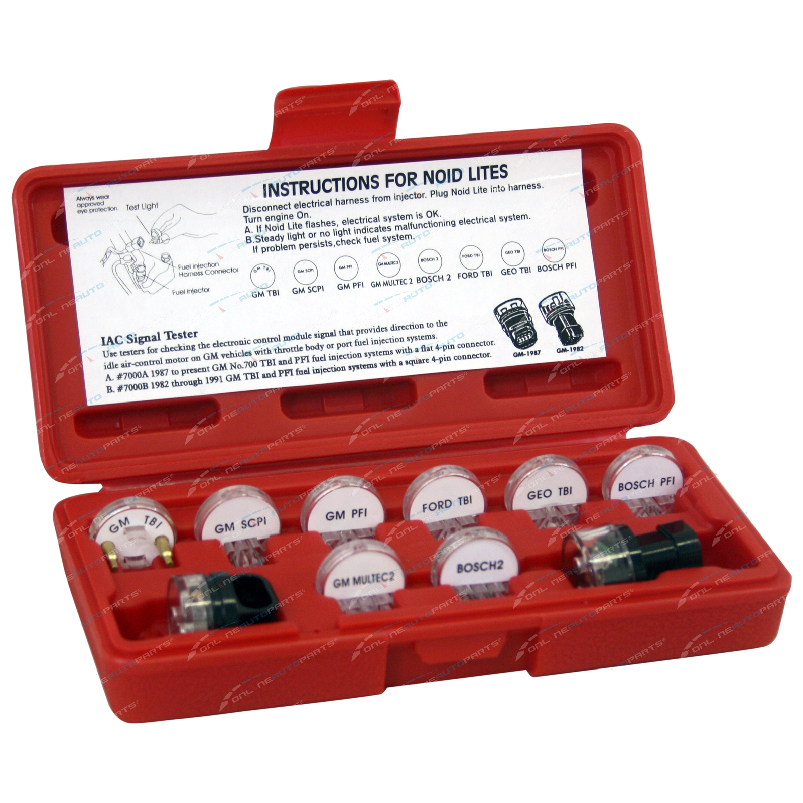 10 piece noid light iac test tools electronic fuel injection efi click to enlarge publicscrutiny Images