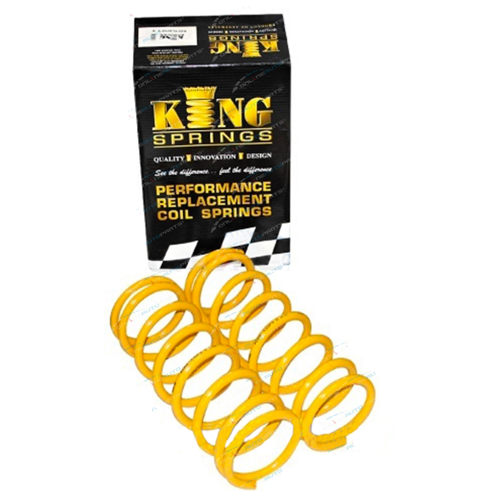 Front Pair Coil King Springs Ford Falcon 6cyl EA EB ED EF EL Sedan Wagon 1988-97