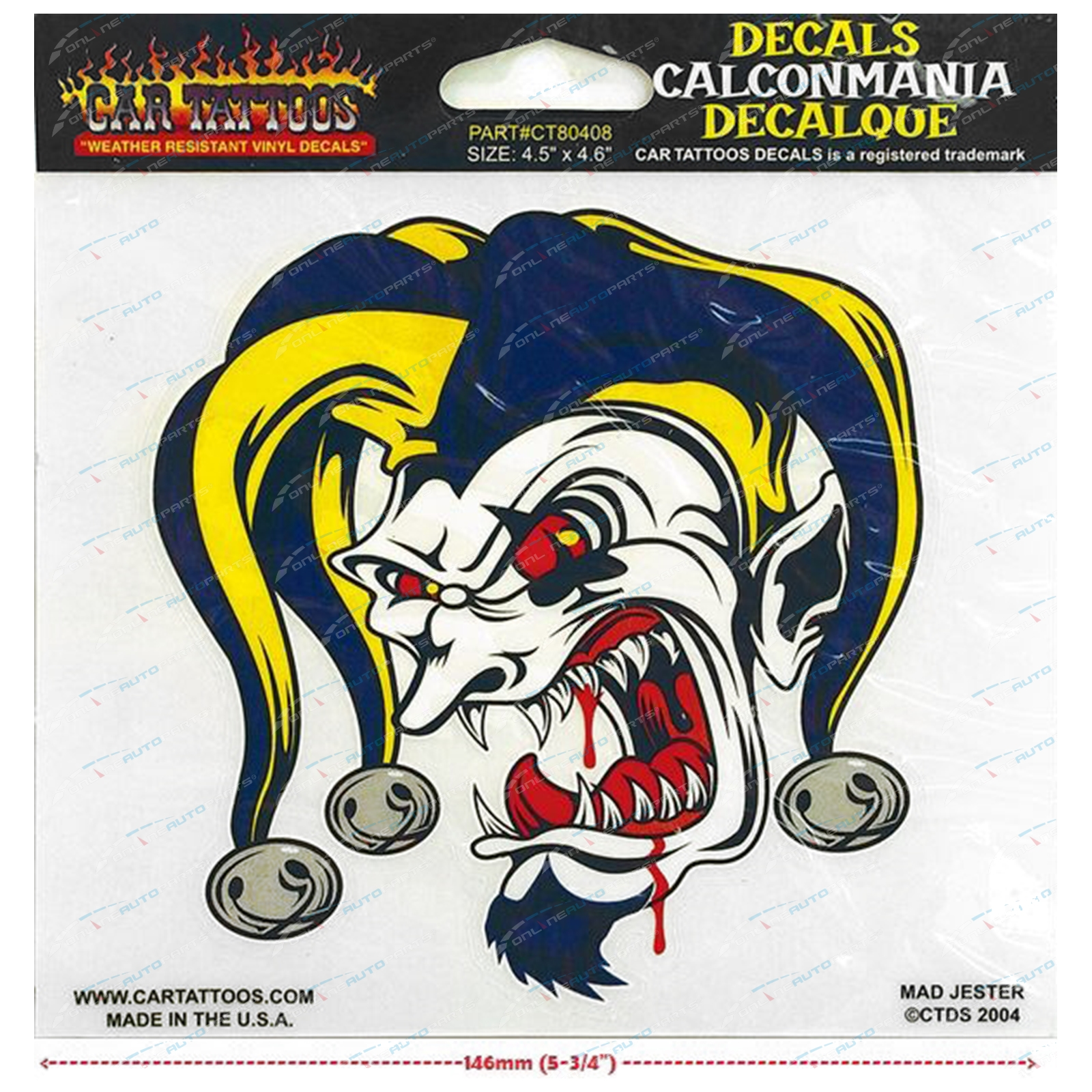 Mad Jester Car Bike Tattoo Vinyl Window Decal Sticker