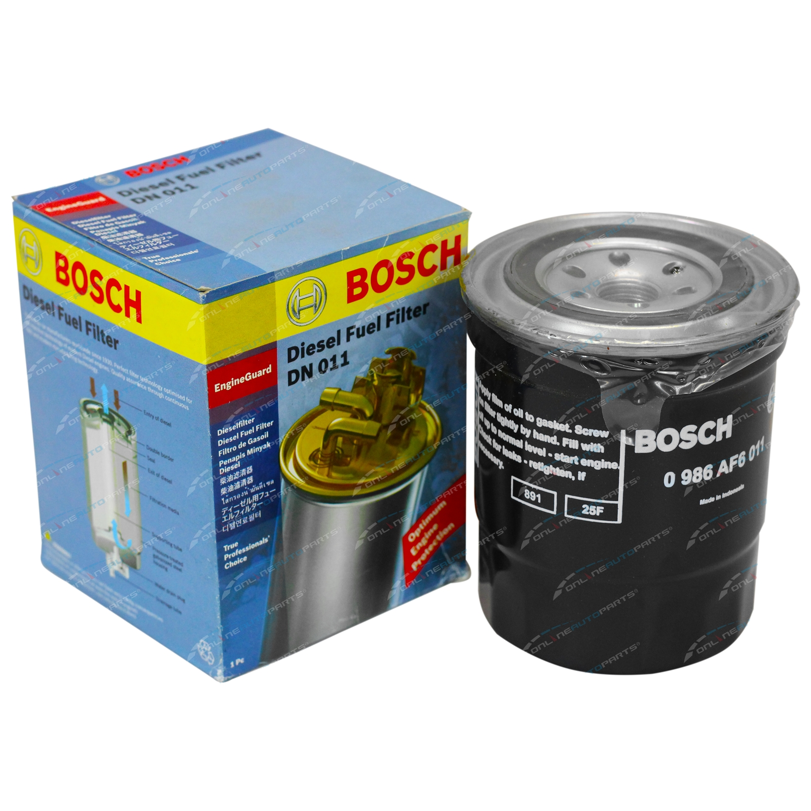 Dn011 Fuel Filter Bosch Suits Nissan Navara D21 Onlineautoparts Filters