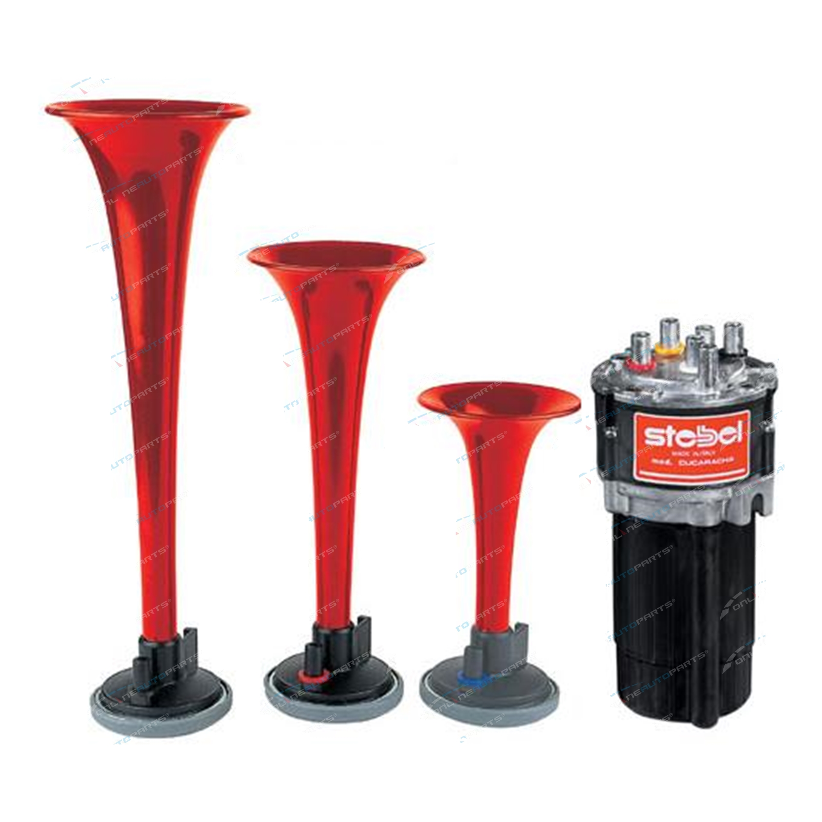 Cavalry Charge Musical Air Horn Kit 12volt Stebel