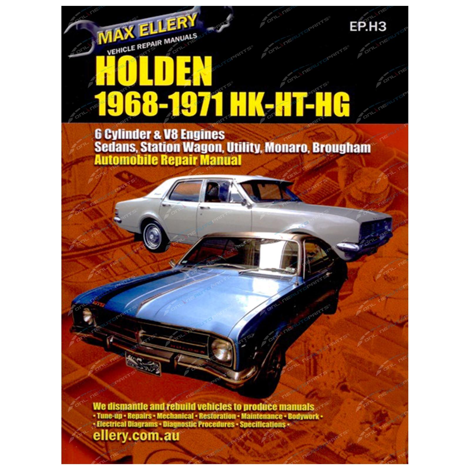 ... Array - workshop car repair manual holden hk ht hg 1968 71 monaro sedan  ute rh