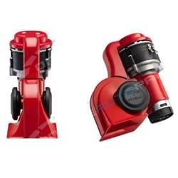Stebel BRIO BP3 Nautilus Air Horn Kit Red 12 Volt 139dB LOUD Switchable Alternating + Straight Blast