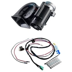 Stebel Nautilus Compact Truck Car Air Horn 12volt 300Hz Deep 110Db Sound + Relay + Wiring Kit