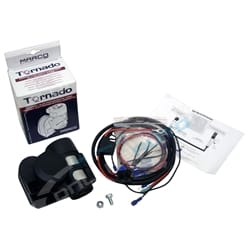 Compact Black 12volt Loud Air Horn with Wiring Kit 139Db Car Motor Bike - Plug-N-Play Harness