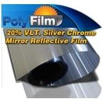 20% Silver Mirror Reflective Glass Window Solar Film 50cm x 30m Roll Tint Bulk