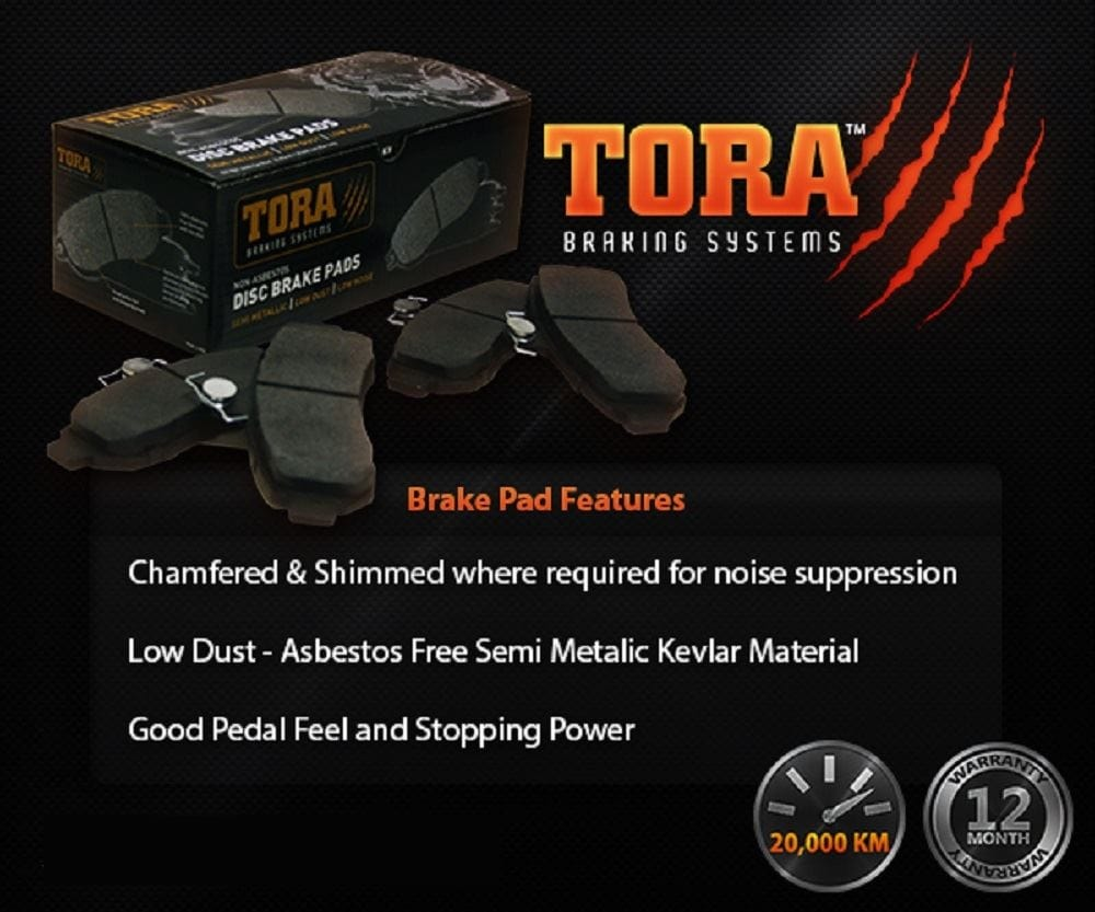 Disc Brake Pad (Rear LH or Rear RH) Tora